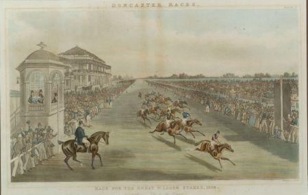 After James Pollard (British, 1797-1859/67)    Suite of Four Racing Prints:  Doncaster Races
