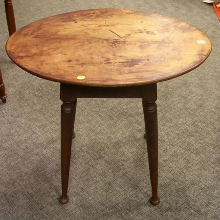 Queen Anne Style Brown Painted Tavern Table.