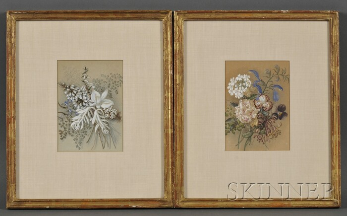 British School, 19th/20th Century      Two Floral Still Lifes.