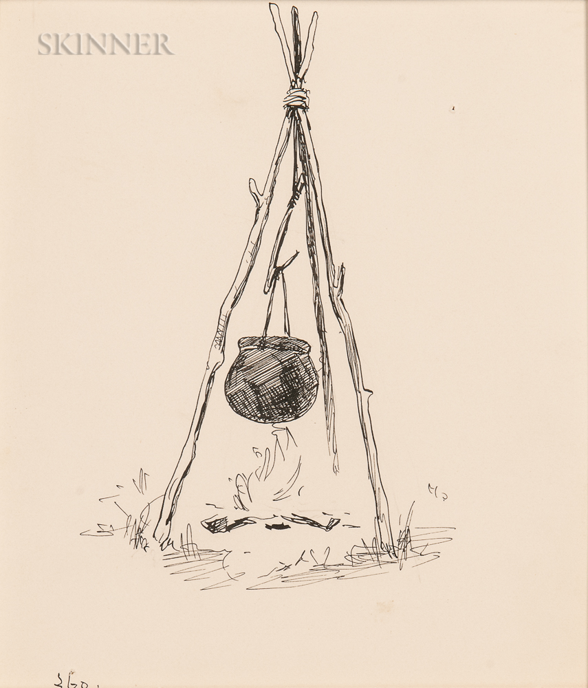 Frederic Remington (American, 1861-1909)      Camp Kettle