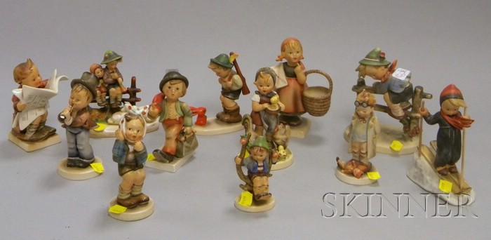 Twelve Hummel Ceramic Figures