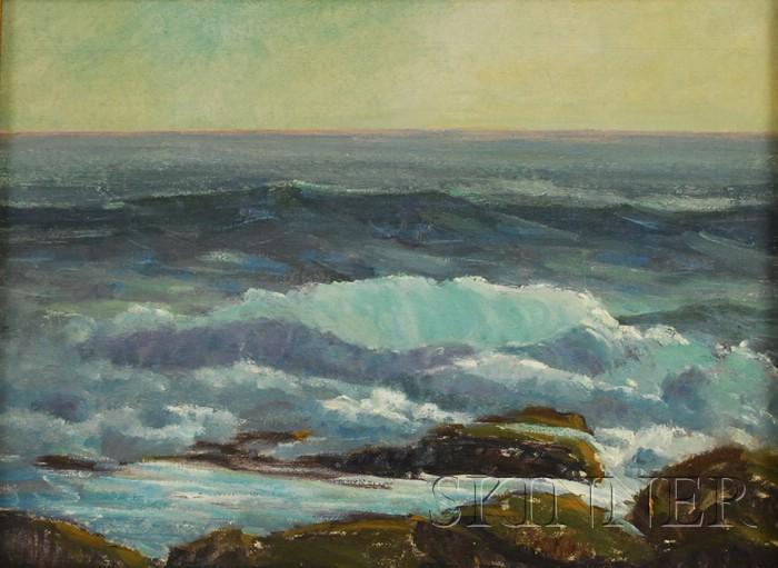 Nord Bowlen (American, 1909-2001)      Seascape.