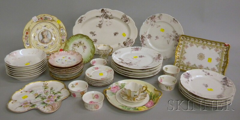 Approximately Forty-nine Pieces of Assorted Decorated Porcelain Tableware