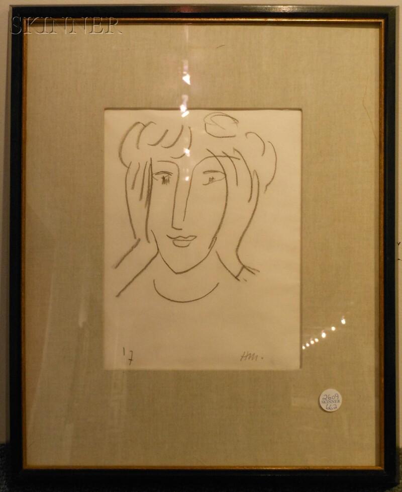 Henri Matisse (French, 1869-1954)      Tête de Femme