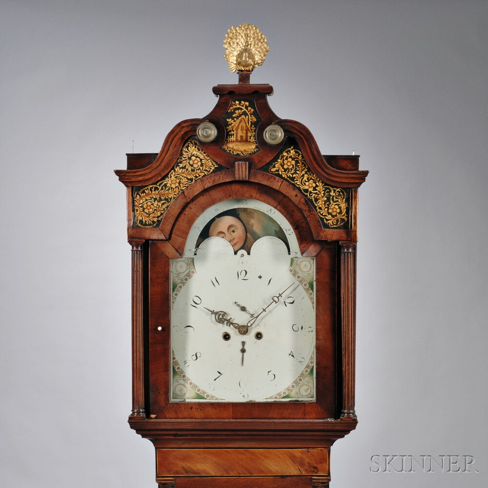 Inlaid Mahogany English Longcase Clock
