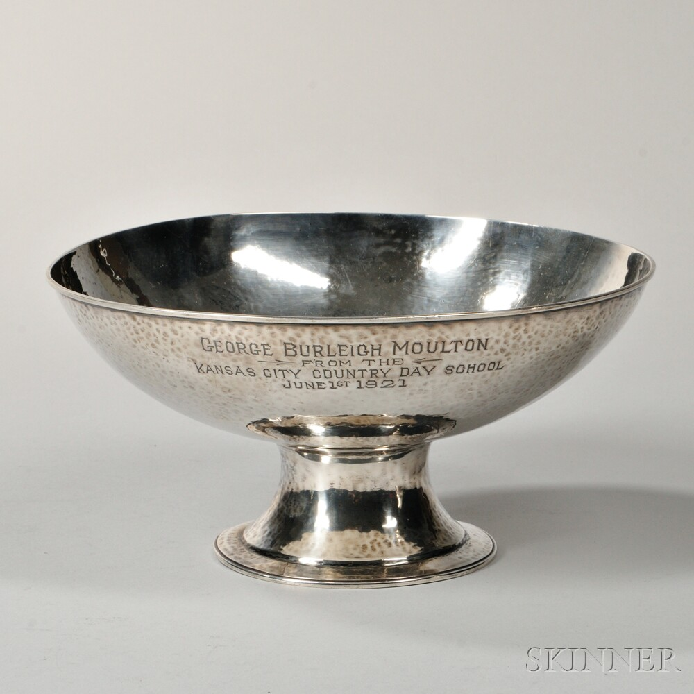 American Arts and Crafts Sterling Silver Footed Bowl