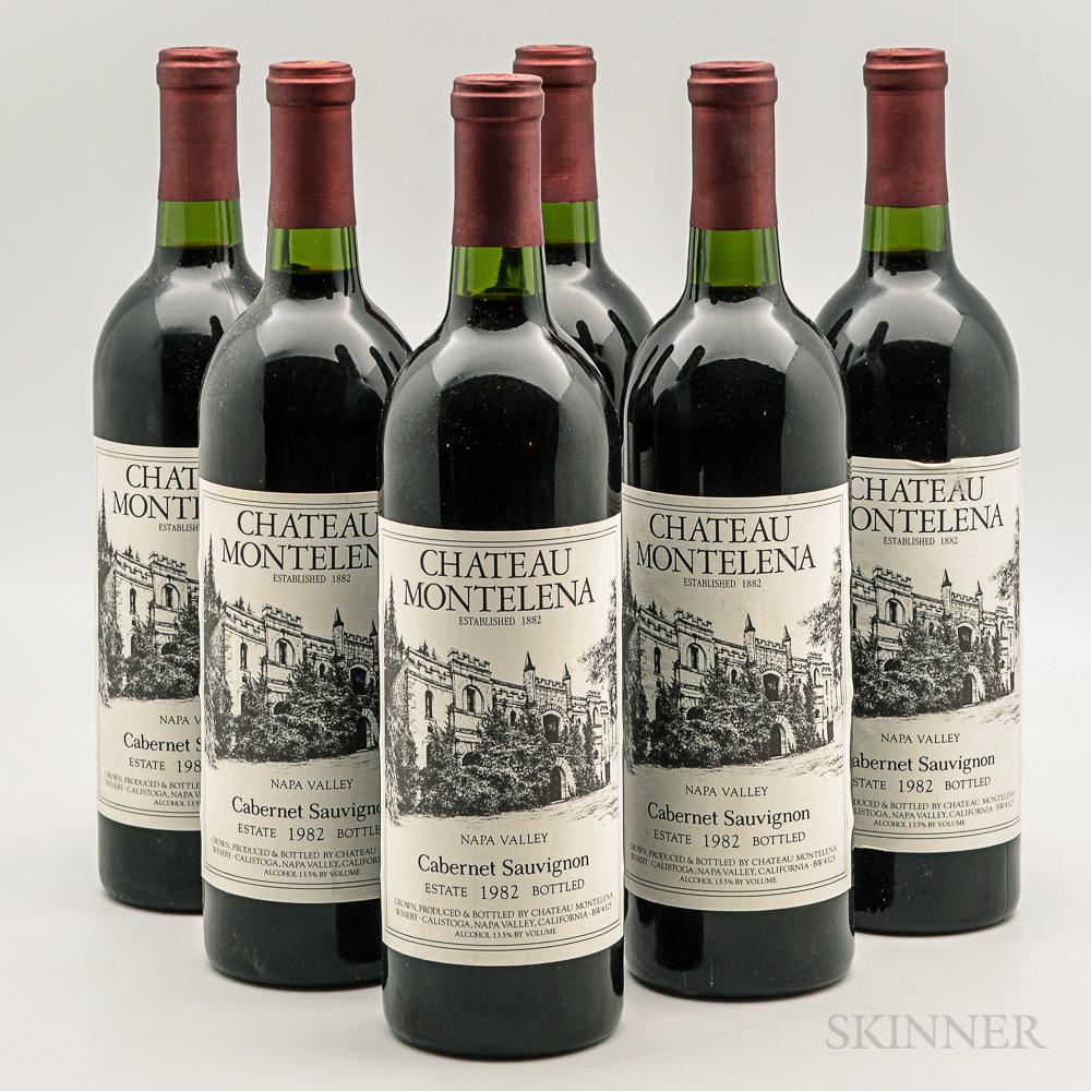 Chateau Montelena Cabernet Sauvignon 1982, 6 bottles