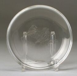Steuben Etched Colorless Glass Bowl