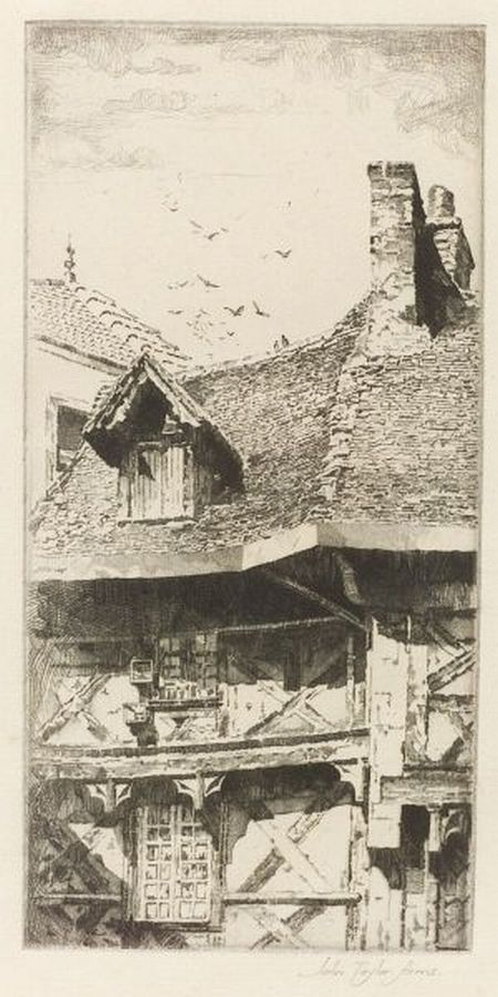 John Taylor Arms (American, 1887-1953)  A Roof in Thiers