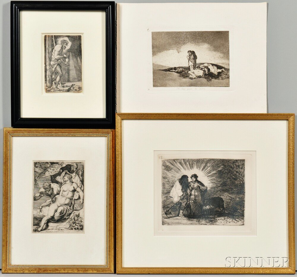 Four Old Master Prints      including