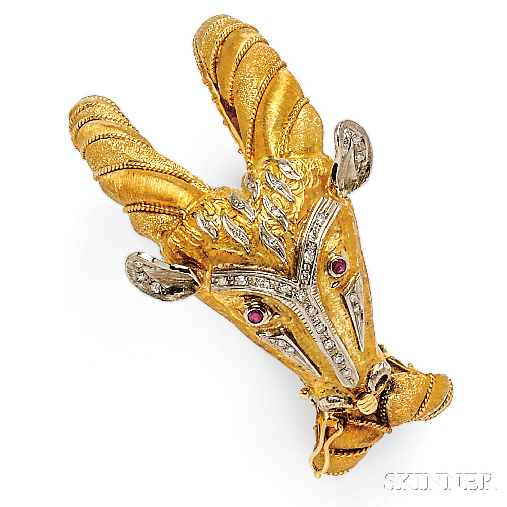 18kt Gold, Ruby, and Diamond Bracelet, Lalaounis