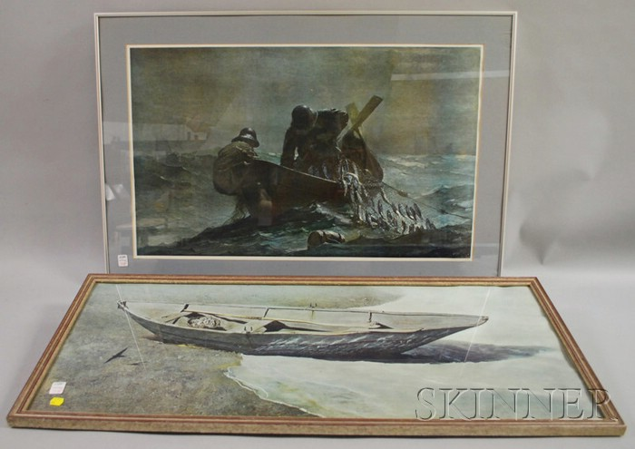 Four Framed Andrew Wyeth Mechanical Prints.