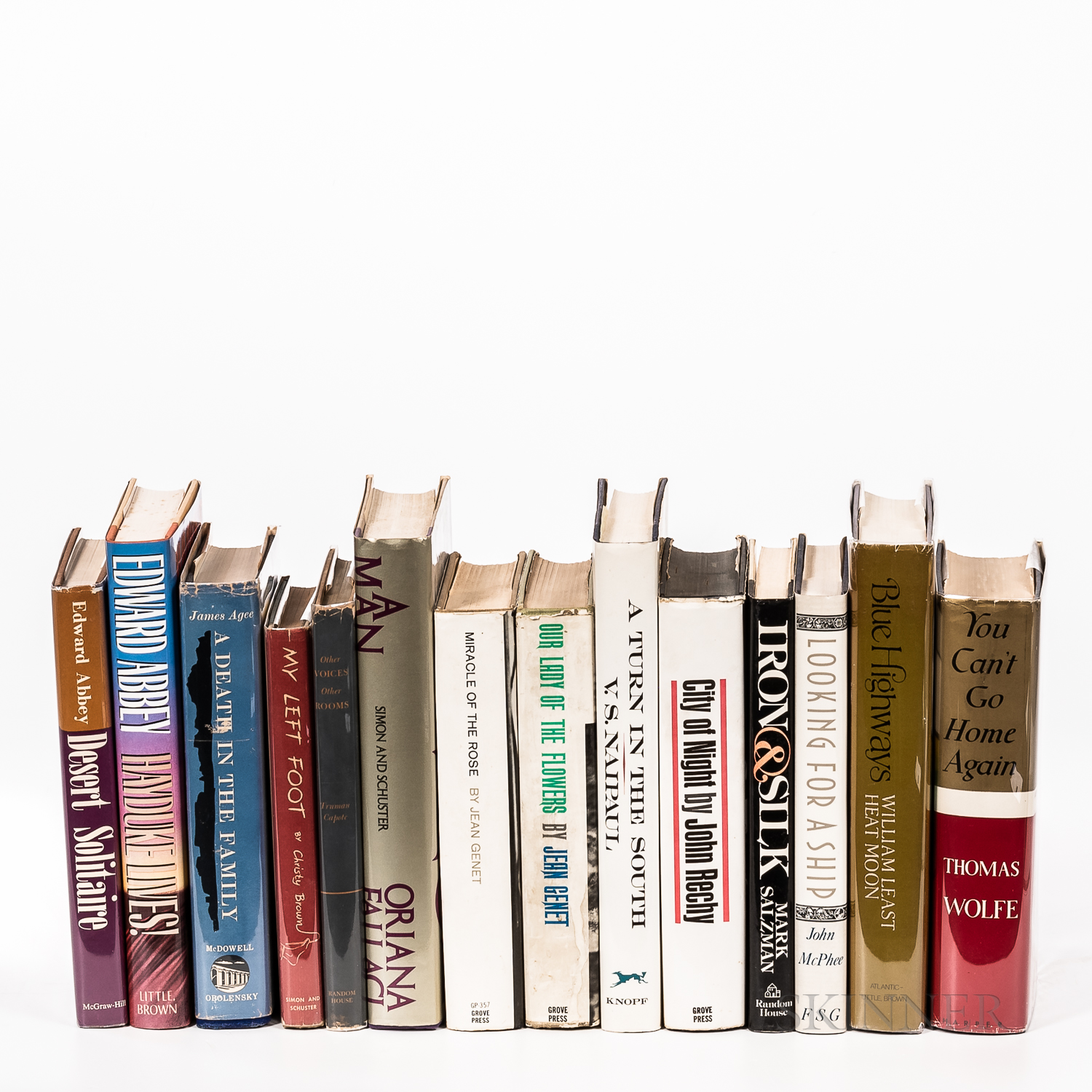 Fourteen Mostly First Editions, Travel Literature and Biographies.