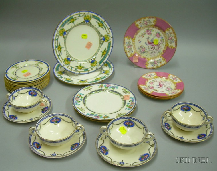 Twenty-five Pieces of Royal Doulton, Royal Worcester, and Mintons Tableware