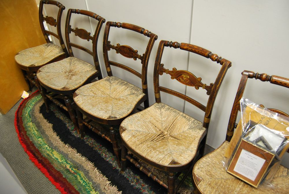 Set of Six Grain-painted Fancy Chairs