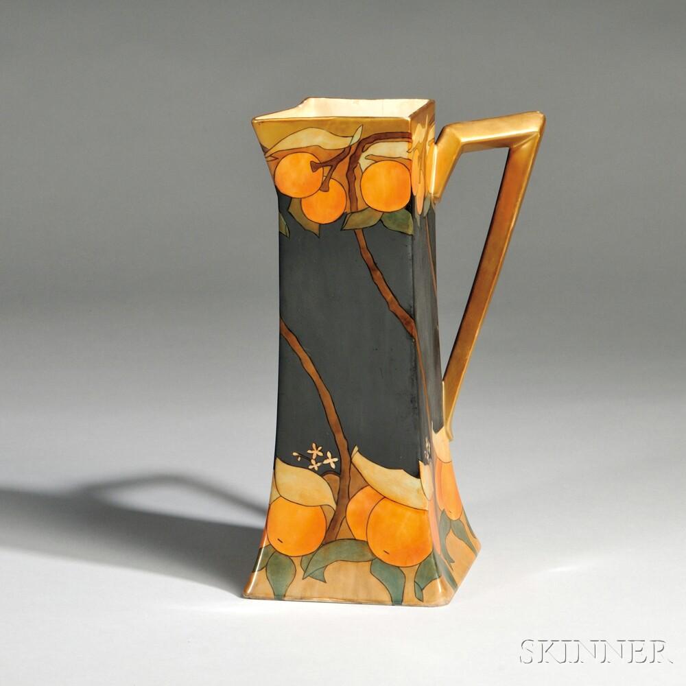 Hand-painted Limoges Porcelain Pitcher