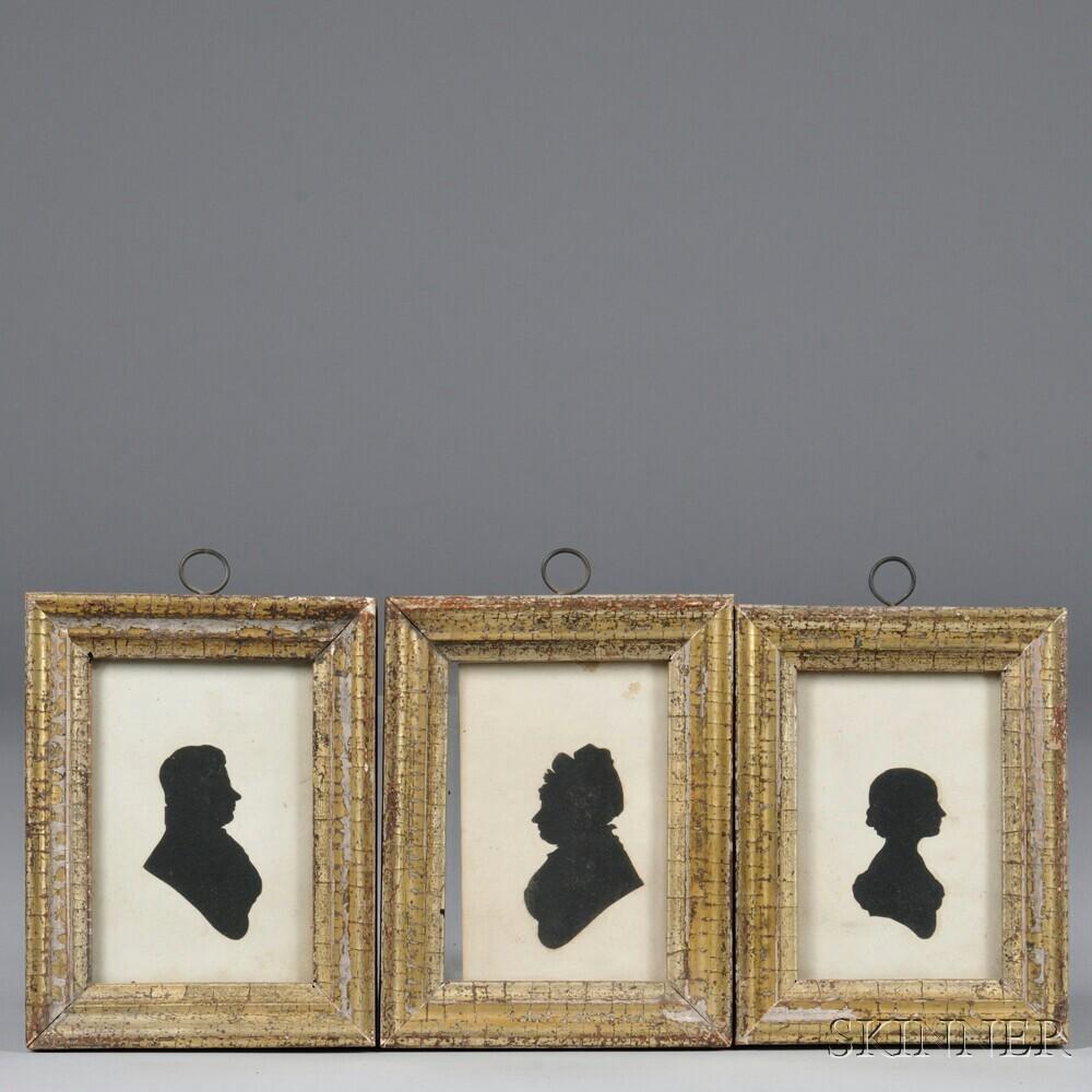 Three Cut Paper Silhouettes