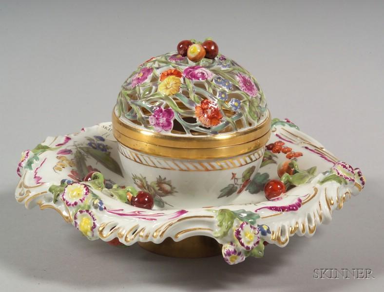 Dresden Porcelain Pastille Burner