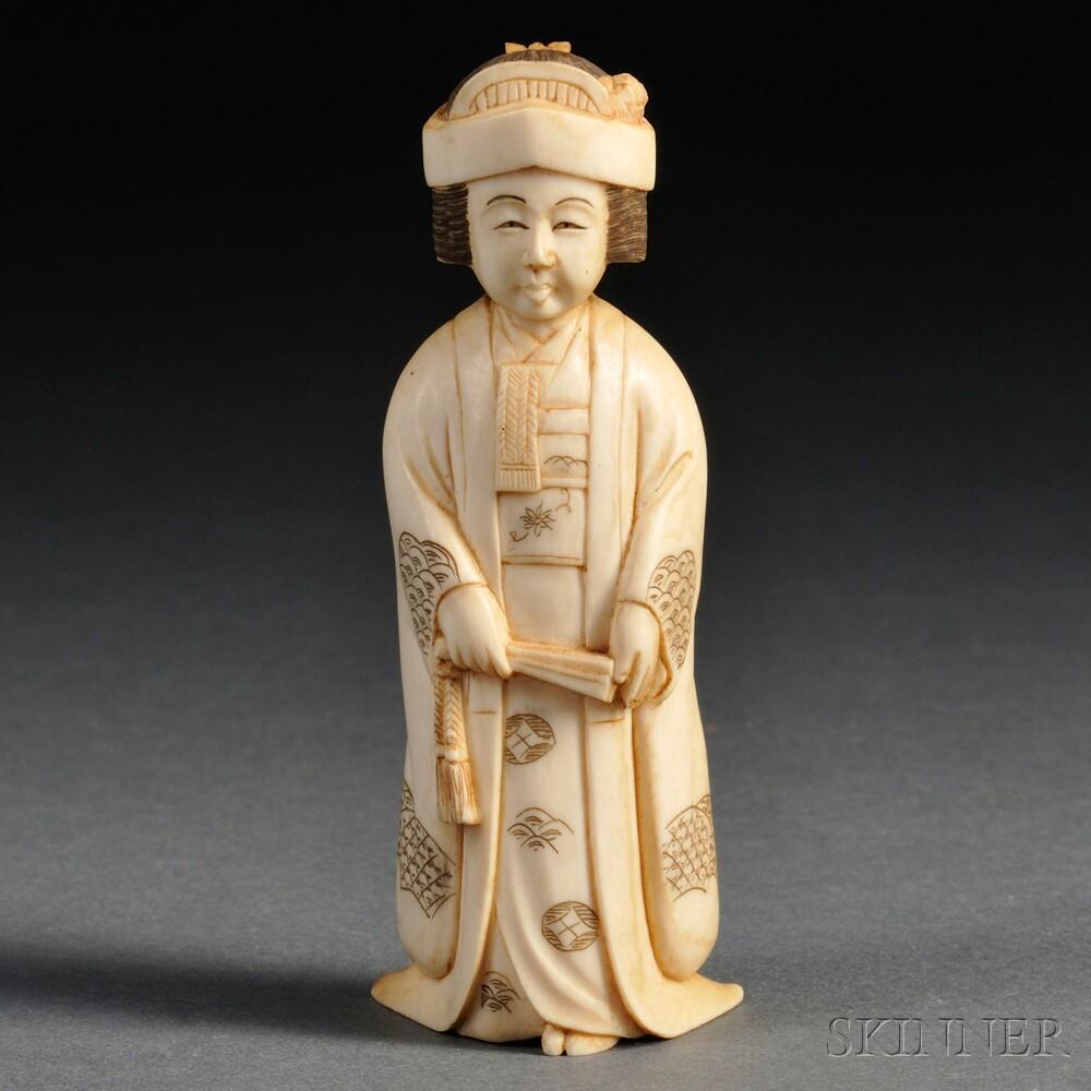 Ivory Okimono of a Woman