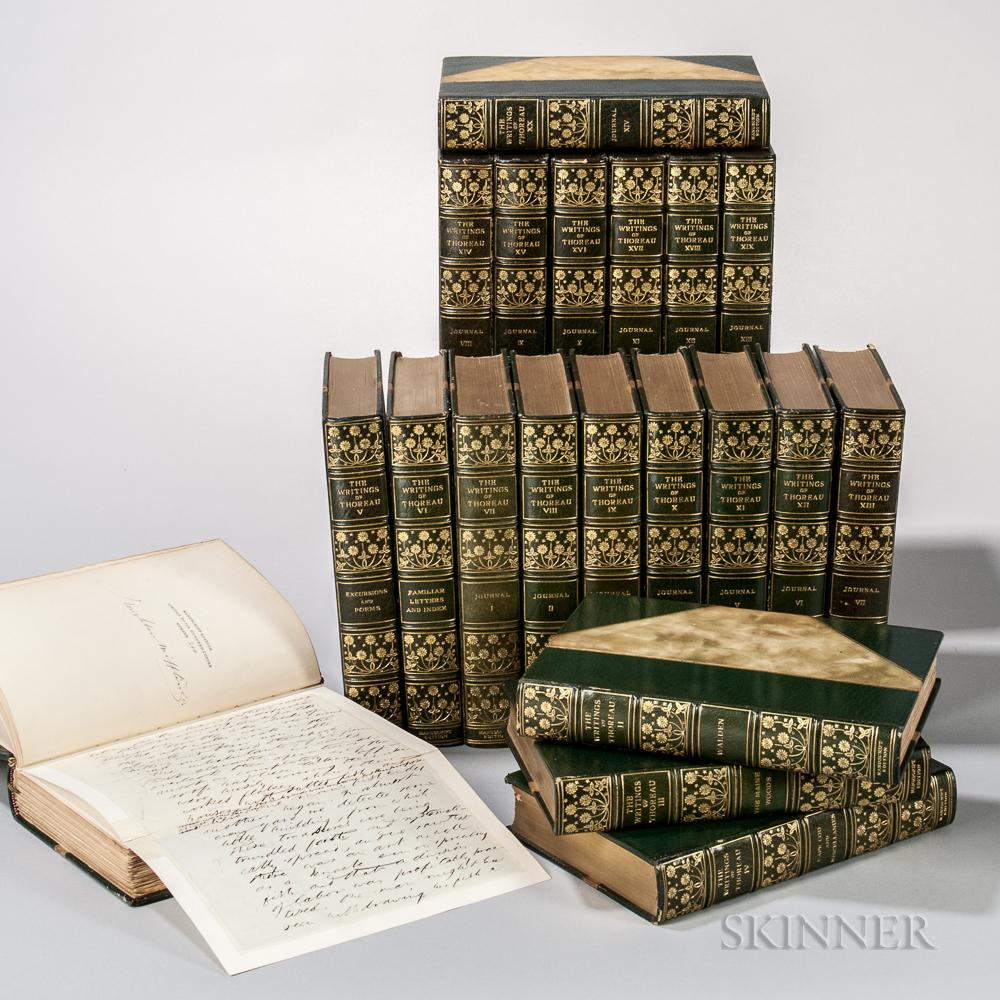 Thoreau, Henry David (1817-1862) The Writings  , Manuscript Edition.