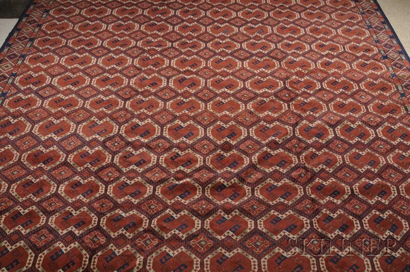 Turkoman-Style Oriental Carpet