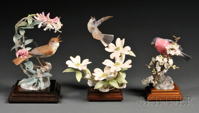 Three Dorothy Doughty for Royal Worcester Bone China Birds