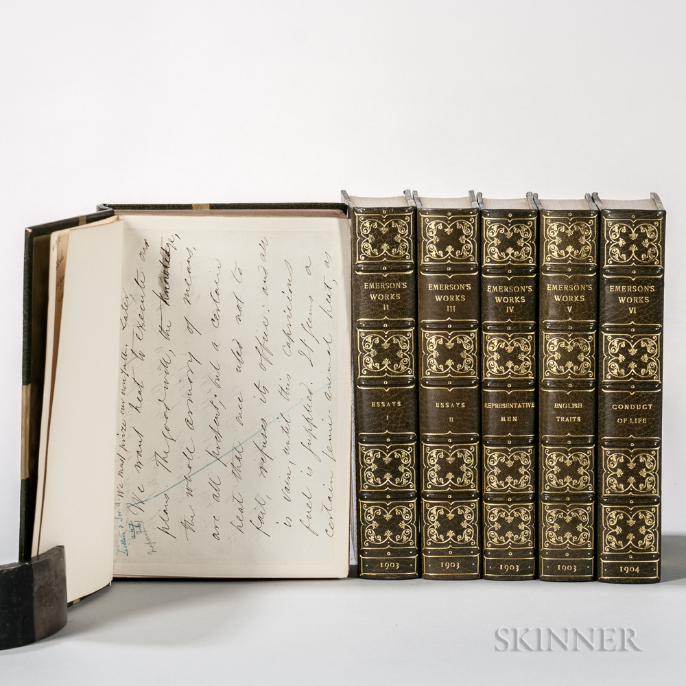 Emerson, Ralph Waldo (1803-1882) Works  , Autograph Centenary Edition.