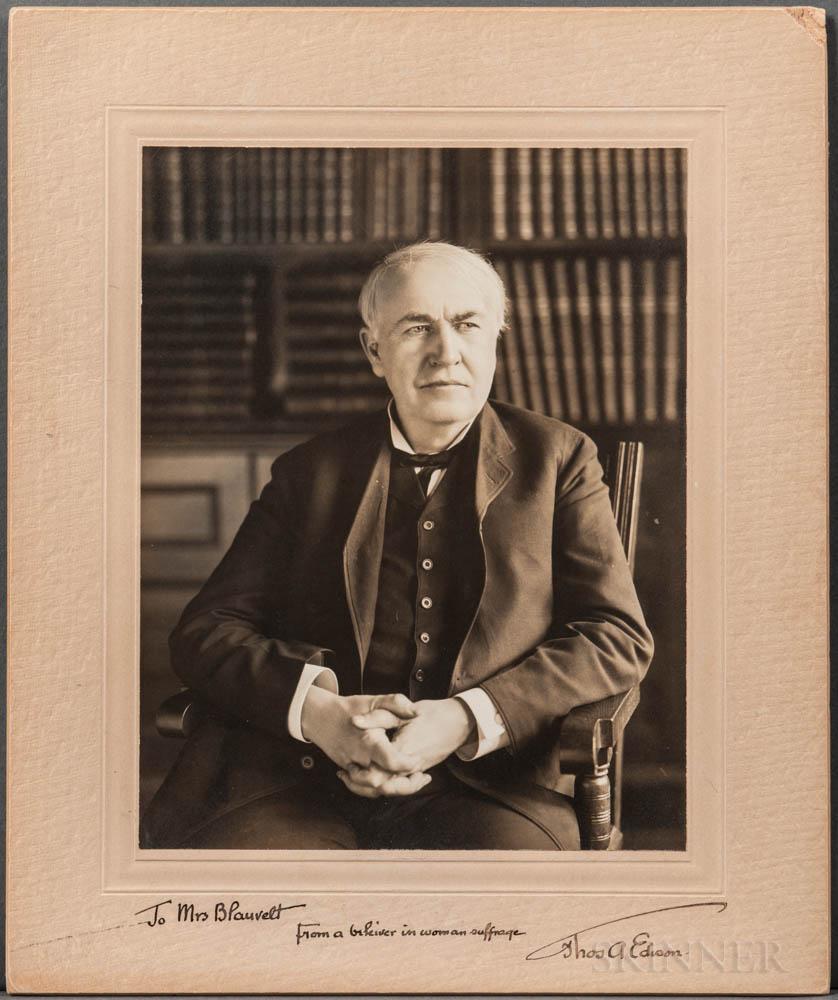 Edison, Thomas Alva (1847-1931) Signed Photograph.