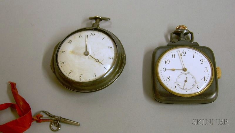 Ed Koehn Swiss .800 Silver Cased 14-jewel Minute Repeater Pocket Watch and a George III English Sterling Silver...