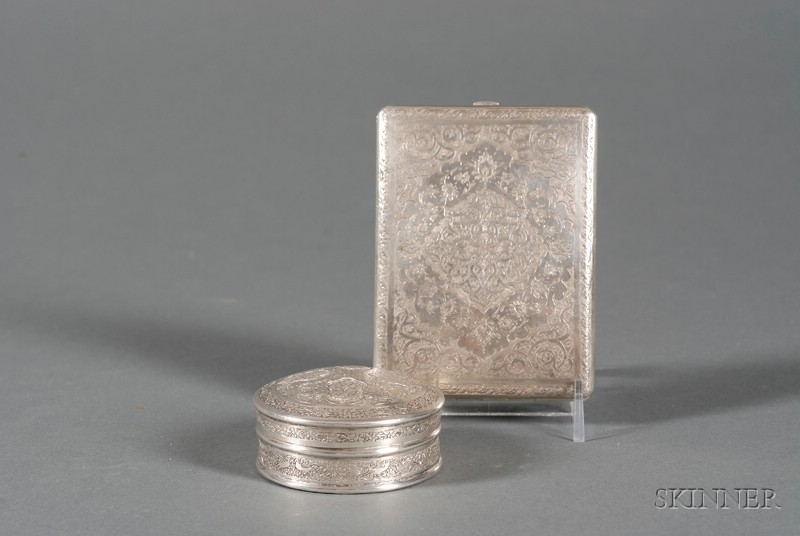 Two Indo-Persian Silver Boxes
