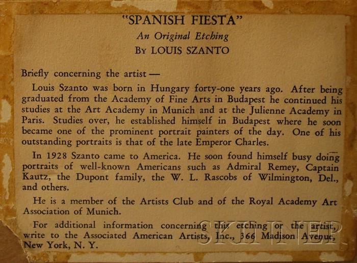Lajos (Louis) Szanto (Hungarian/American, 1889-1965)      Spanish Fiesta