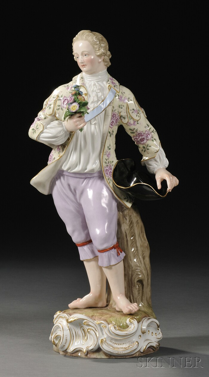 Meissen Porcelain Figure of a Man