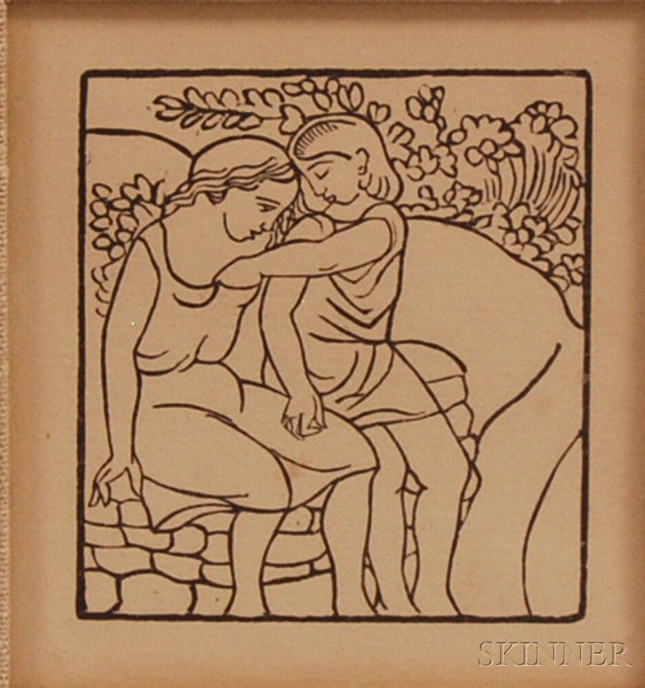 Aristide Maillol (French, 1861-1944)      Framed woodcut from Daphnis et Chloe