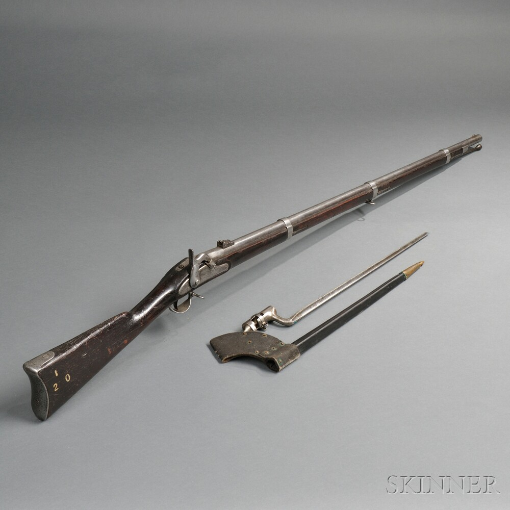 Model 1861 Percussion Rifle-musket with Bayonet and Scabbard