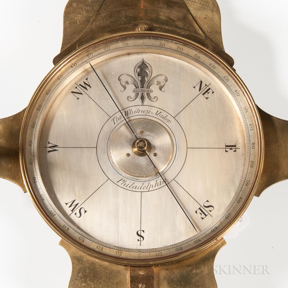 Thomas Whitney Four-vane Vernier Compass