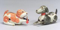 Two Marx Tin Dog Toys.