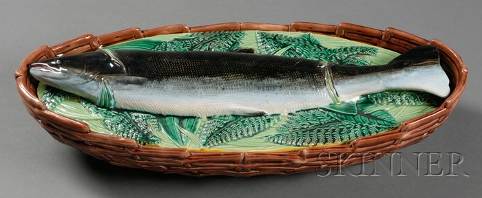 George Jones Majolica Fish Casserole
