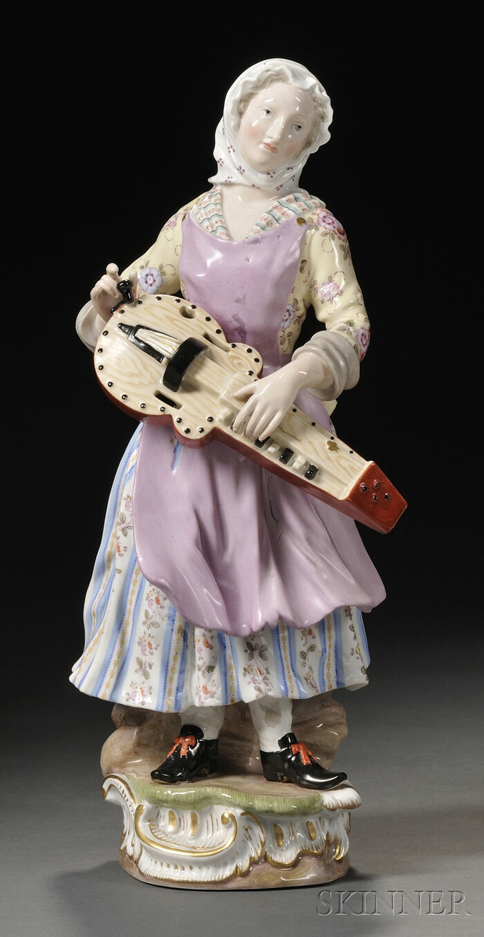 Meissen Porcelain Figure of a Woman