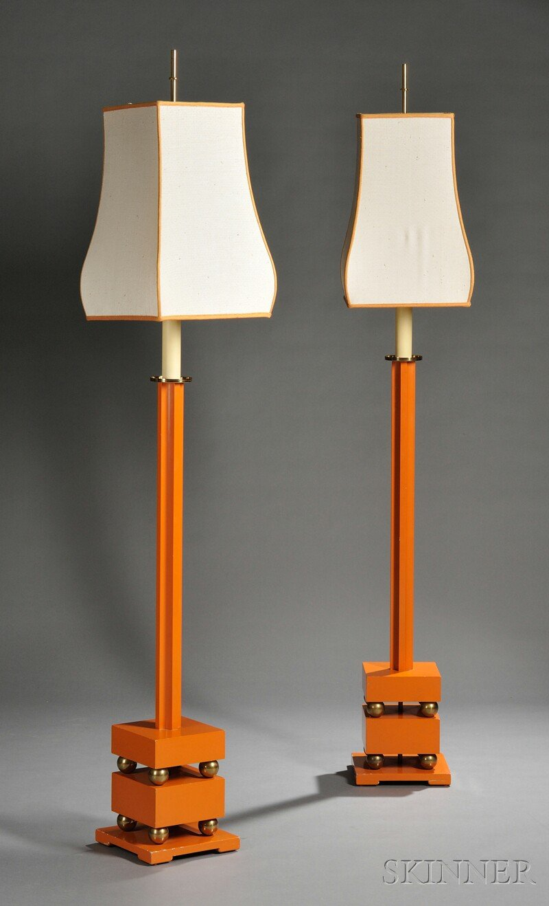 Pair of Tommy Parzinger Floor Lamps