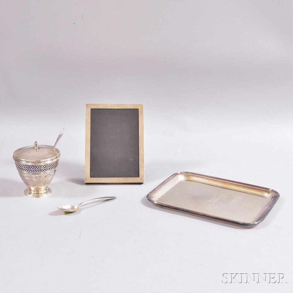 Five Silver Tableware Items