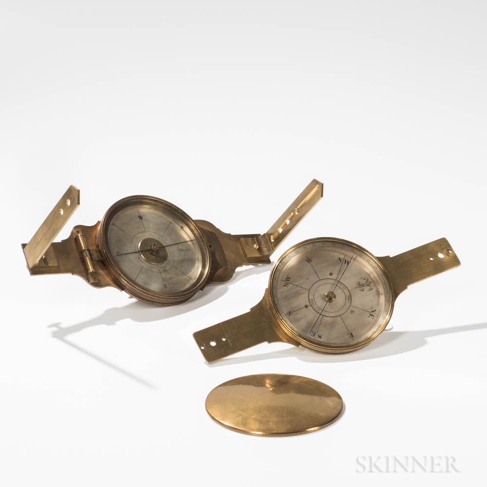 Two Thomas Whitney Surveyor's Compasses