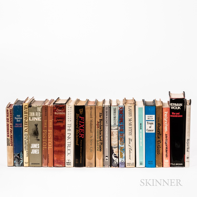 Twenty-one Mostly First Edition Works of Modern Literature.