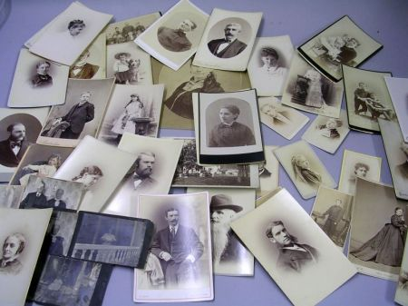 Thirty-one 19th and Early 20th Century Portrait Cabinet Cards, Eight Carte-de- Visites, and Five Photographs.