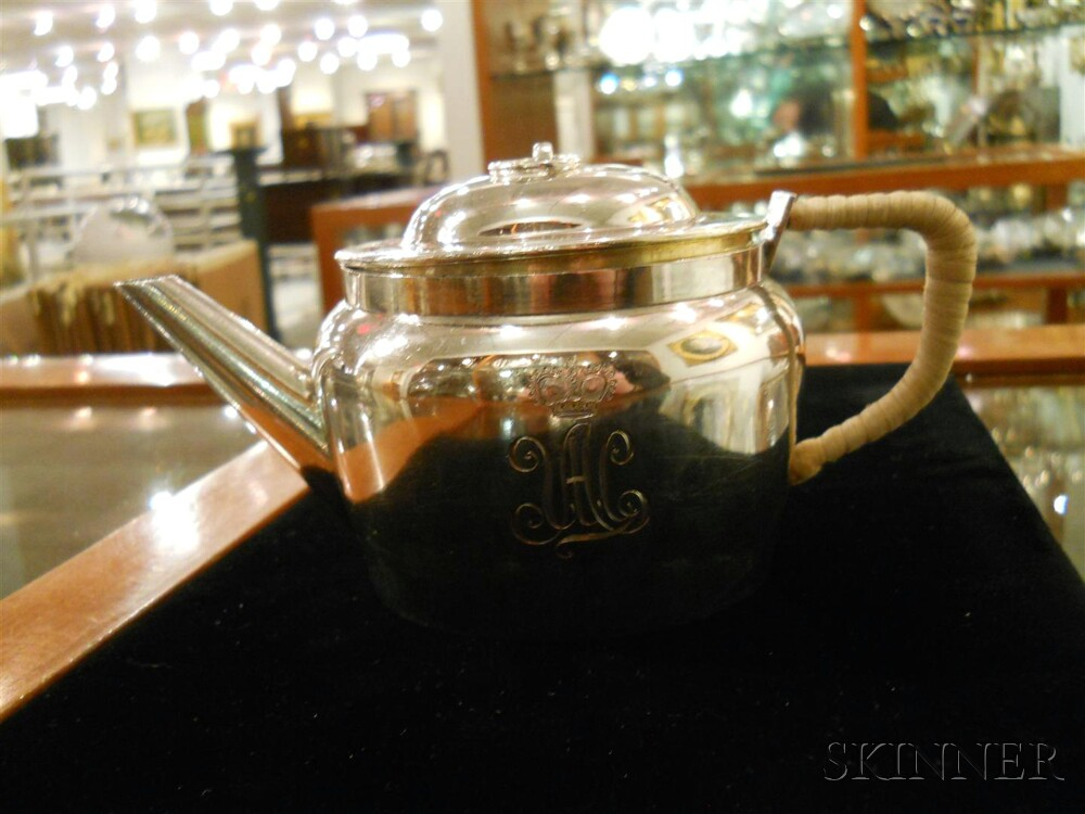 Russian .875 Silver Traveling Tea Service