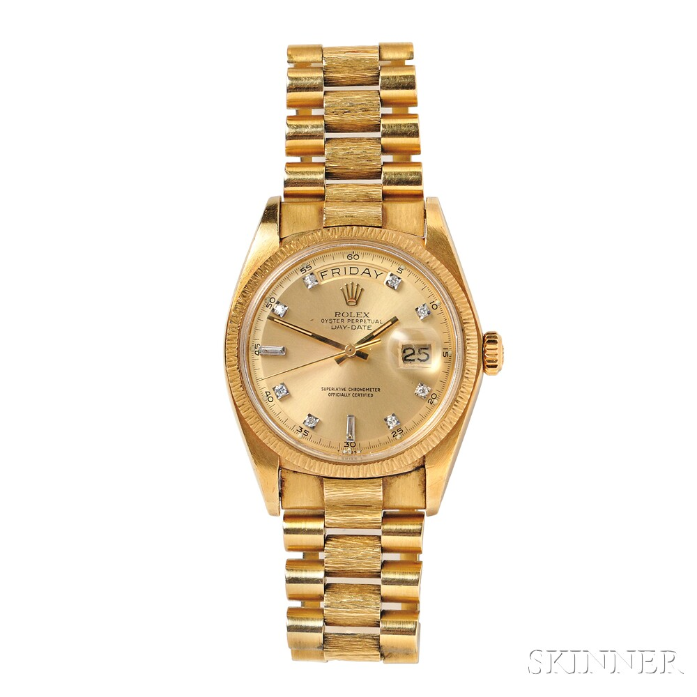 "Gentleman's 18kt Gold ""Oyster Perpetual Day-Date"" Wristwatch, Rolex"