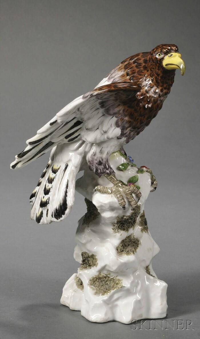 Dresden Porcelain Figure of an Eagle