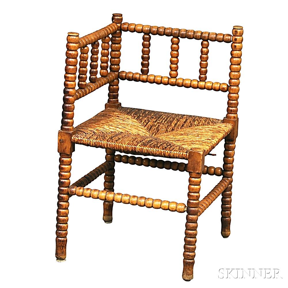 Maple Spool-turned Corner Chair
