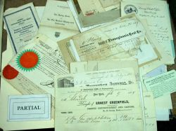 Collection of Late 1800s Letterheads and Bill Heads