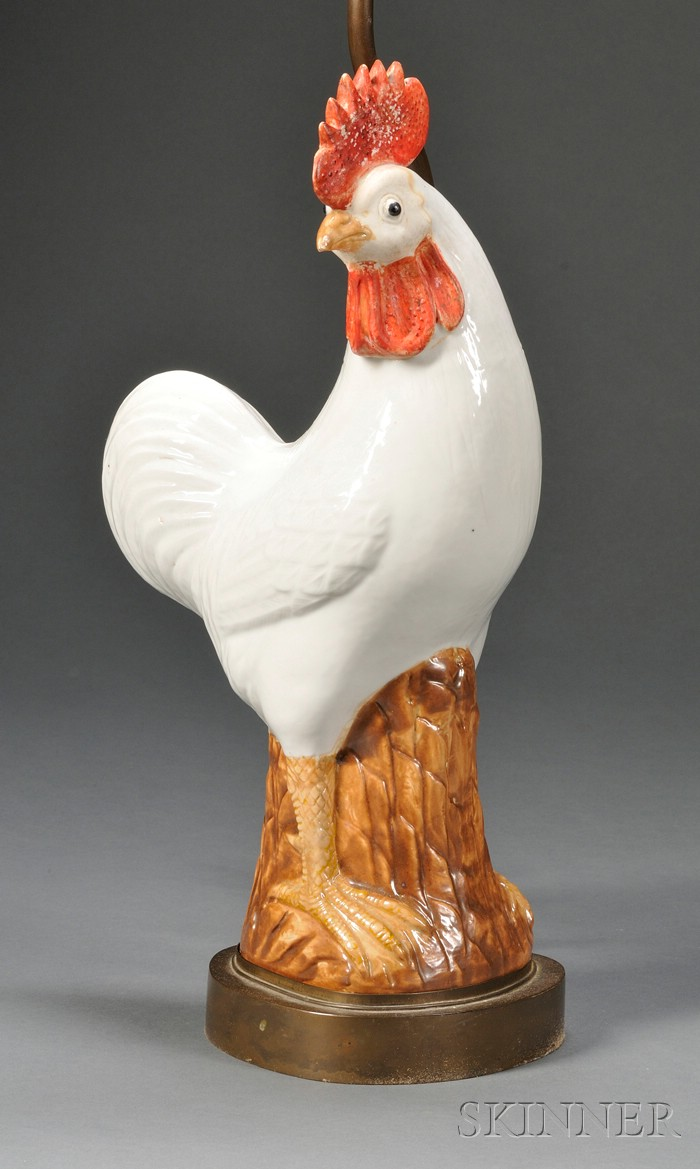 Chinese Export Porcelain Rooster Figure