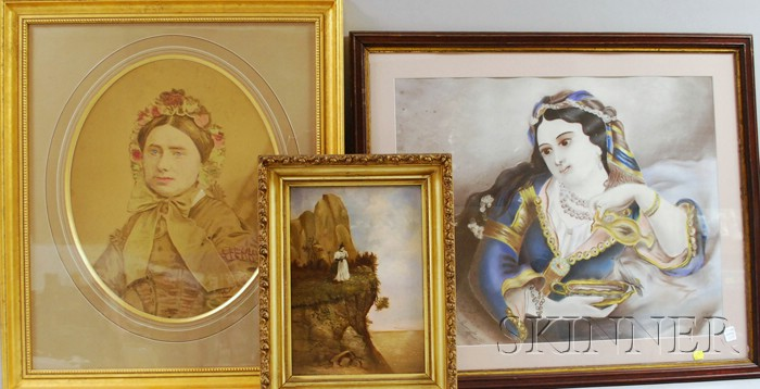 Lot of Three Framed Victorian Works of Art